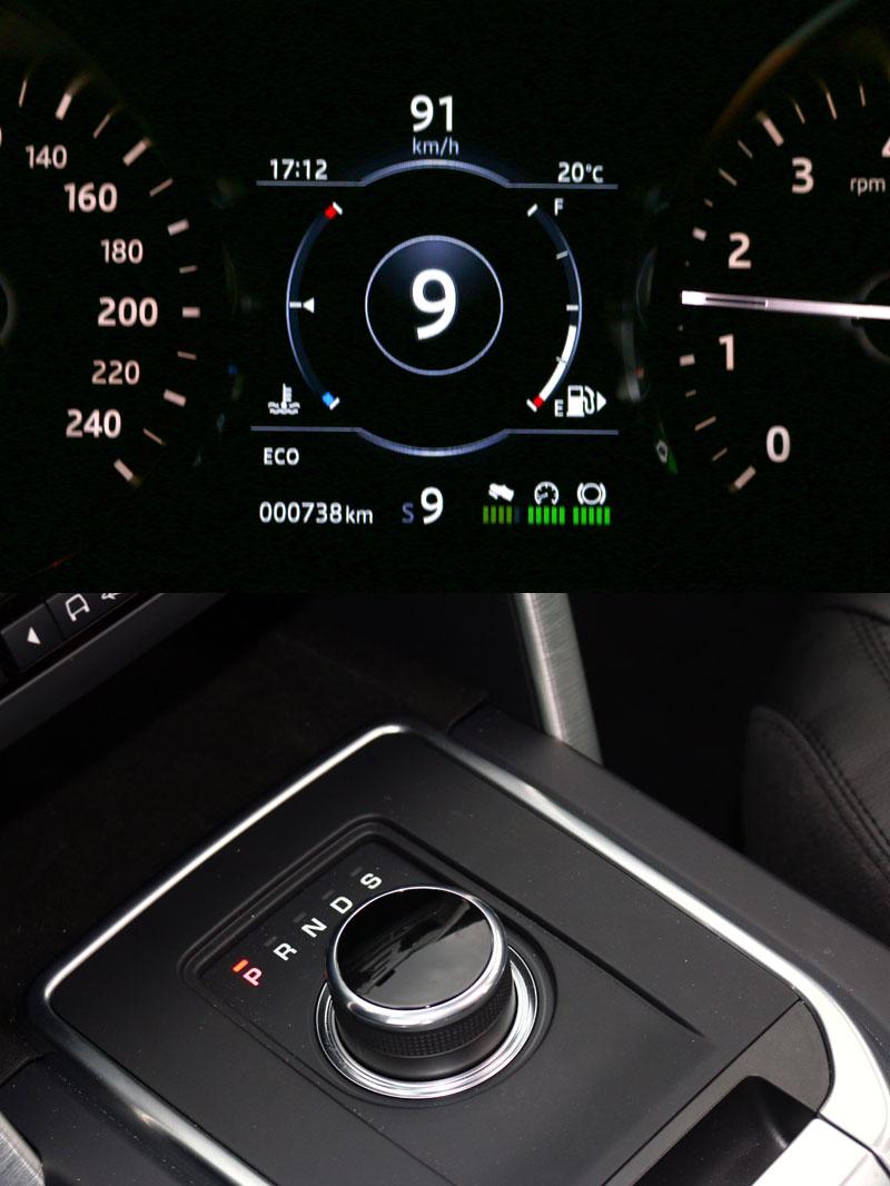搭配的九速手自排變速系統,換檔相當順暢綿密。