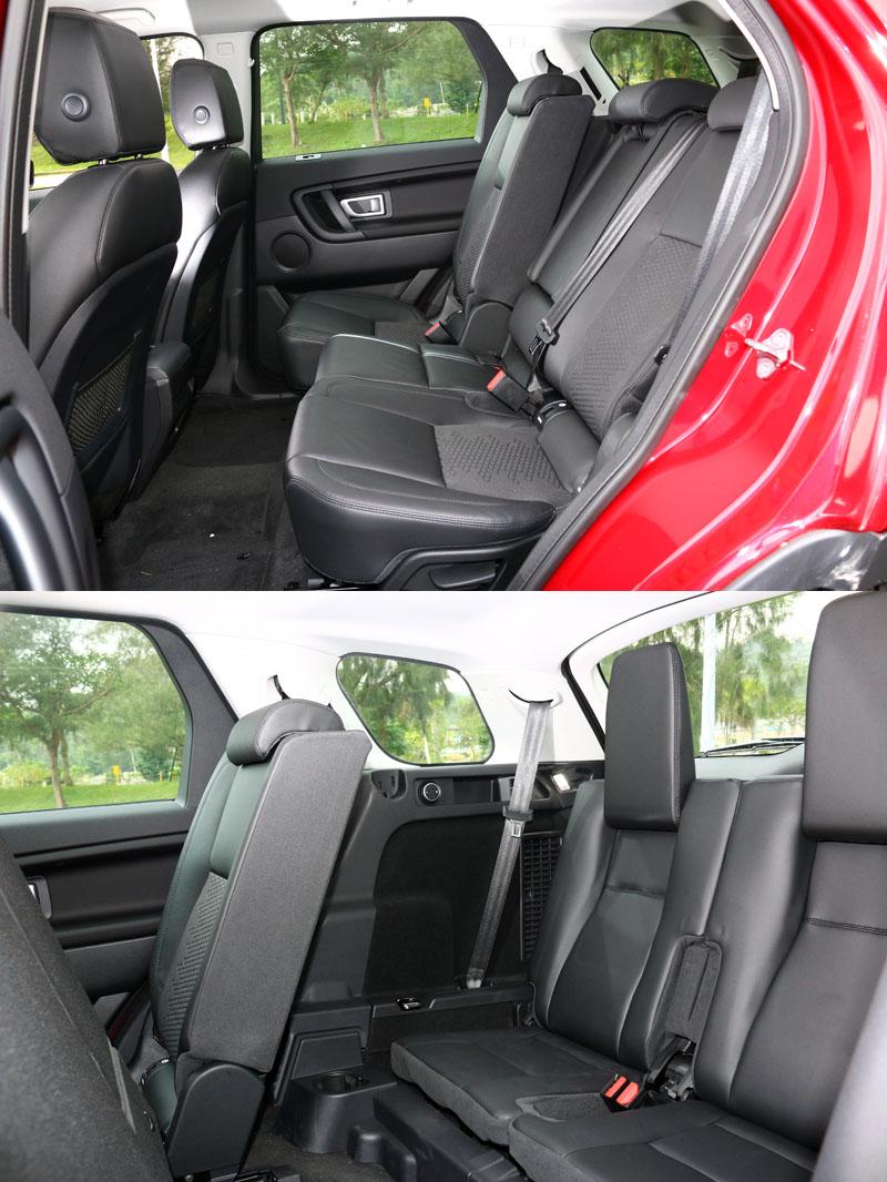 Discovery Sport 2.0 Si4 S仍配置七人座設定,第二排座位有完整的調整功能,第三排座位則僅適合短程乘坐。