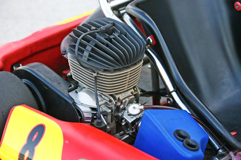 Super N35換上了最大馬力可達22ps的IAME 100c.c.二行程引擎,馬力瞬間暴增將近三倍。