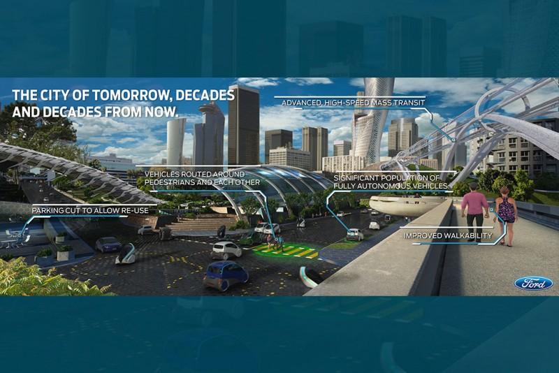 除了車輛研發以外,Ford也與全球各地的大城市合作,期望藉此幫助城市解決日益嚴重的交通議題,包含塞車與空污問題。