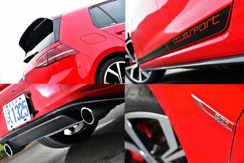 高光澤塗裝的專屬套件以GTI為藍圖特別開發,除了「合身剪裁」外完全融入車身線條之外,更散發懾人氣勢。