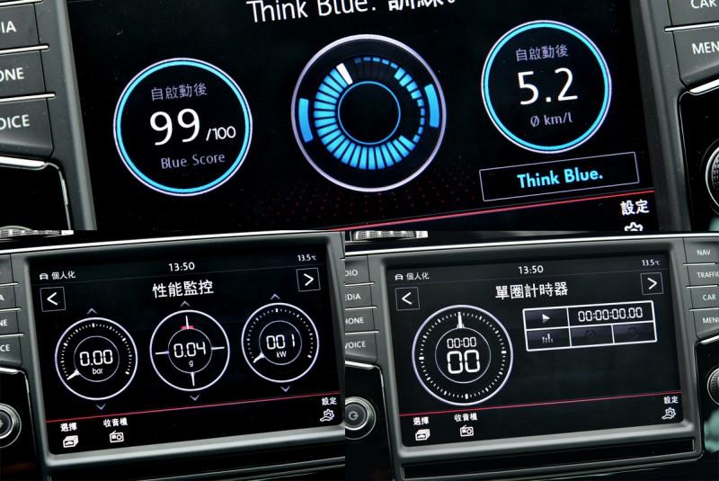 觸控螢幕更提供節能提示、性能監控與單圈計時器等三大儀錶功能
