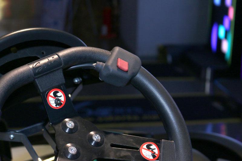 SODI KART RTX電能卡丁車還配有一鍵「加速」按鈕,可設定數十秒的瞬間加速,以利超車。