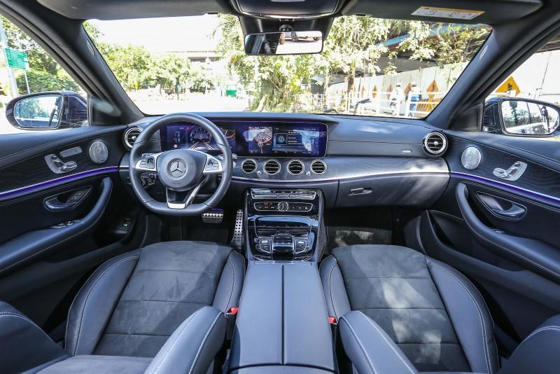▲除了雙12.3吋螢幕以外,其餘設計與E200 Avantgarde Lux車型差異不大。
