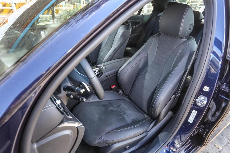 ▲座椅設計與E200 Avantgarde Lux車型相同。