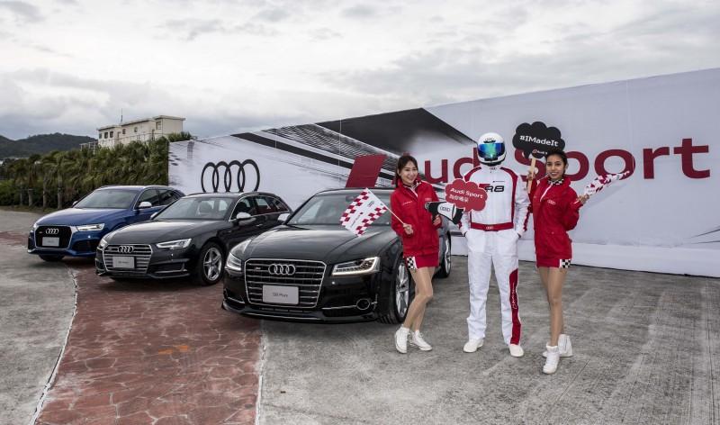 終點站更是以充滿賽車氛圍的設計呈現Audi Sport精神,為跑者帶來不一樣的馬拉松體驗!