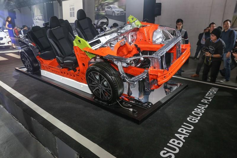發表會現場同步展示SGP底盤結構模型。