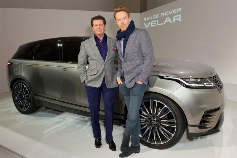 Land Rover 設計長 Gerry McGovern 與英國影星 Damian Lewis 出席倫敦設計博物館首演。