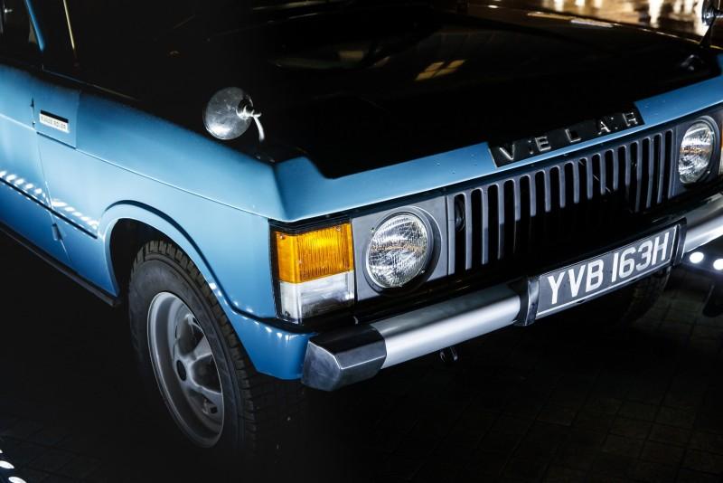 現場展示 1969 年以 Velar 為偽裝代號的 Range Rover 試驗原型車。