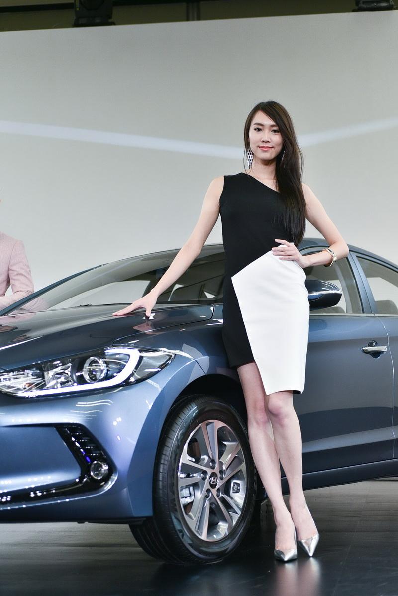 發表當天車模雖是新面孔,顏質氣質與身材都在水準之上