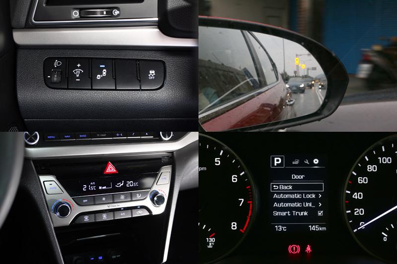 2.0菁英版除了基本的六氣囊+ESP系統+HAC上坡起步輔助系統外,另增加BSD盲點偵測警示系統、LCA車道變換警示系統與RCTA後方交通警示系統,雙區恆溫空調與電動天窗也都是標配,配備十分豐富。