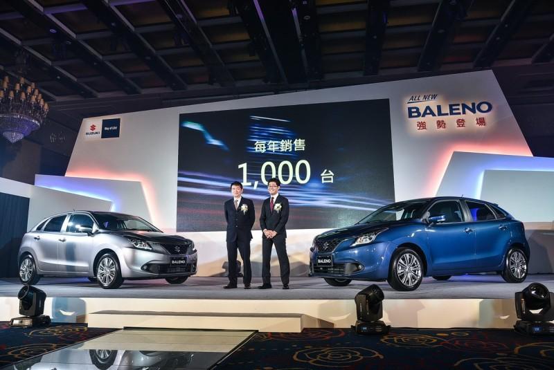 Taiwan Suzuki訂出1000輛的年度銷售目標。
