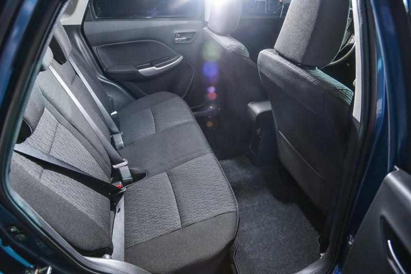 ▲Baleno雖是B級距的車款,車室空間卻能享受到 C級距車款般的寬闊舒適!