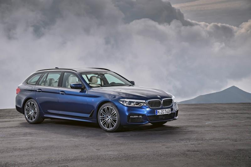 全新BMW大5系列Touring於2017年3月的日內瓦車展現身,擁有與第七代BMW大5系列同源雙生的美學輪廓