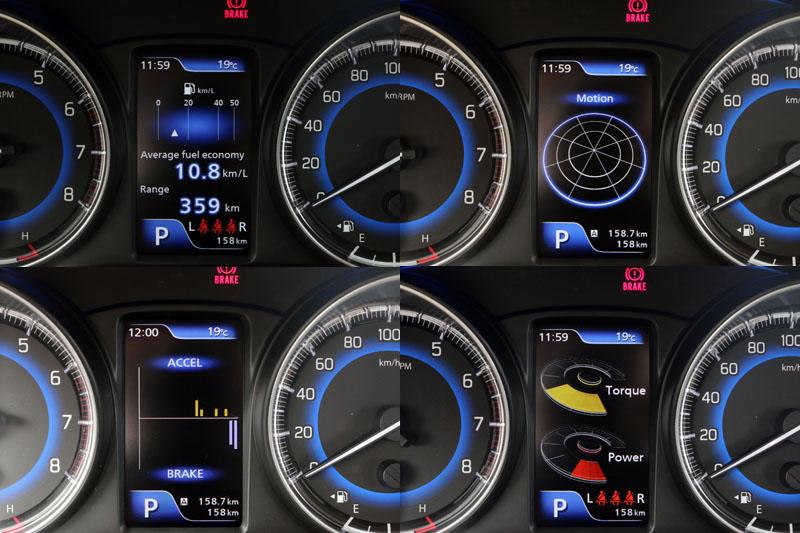 儀錶板中還是有4.2吋的彩色多功能營幕,可顯示車輛動態G值、動力輸出、油門與煞車控制度與平均油耗等資訊。