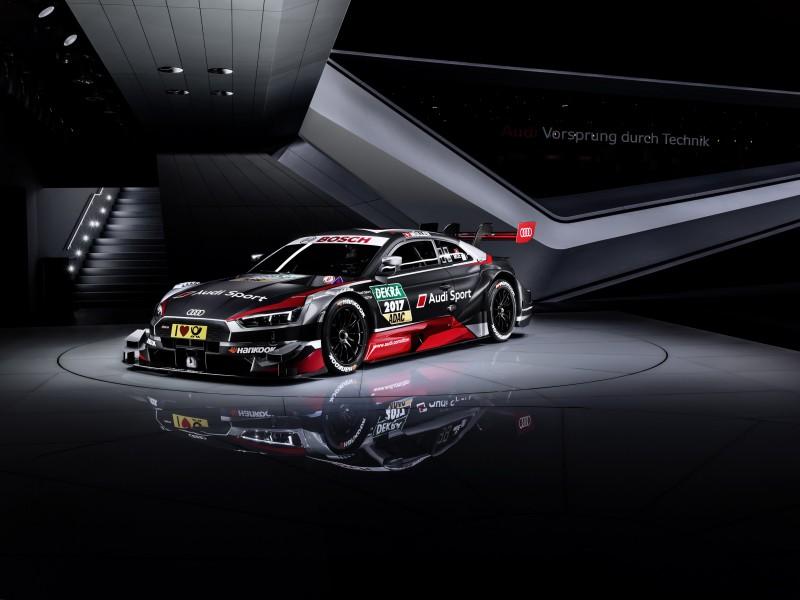 2017年賽車賽季即將開戰,四環品牌選擇在3月初於日內瓦車展正式發表全新第三代Audi RS 5 DTM賽車,融合全新RS車系的設計語言和前衛造型,其搭載的V8自然進氣引擎可爆發超過500ph的極致動力