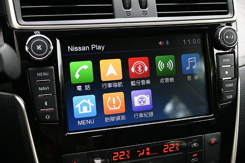 8吋觸控式X-Media+智慧多影音多媒體系統不僅可搭配專屬APP,同時也可連結鏡射手機桌面。