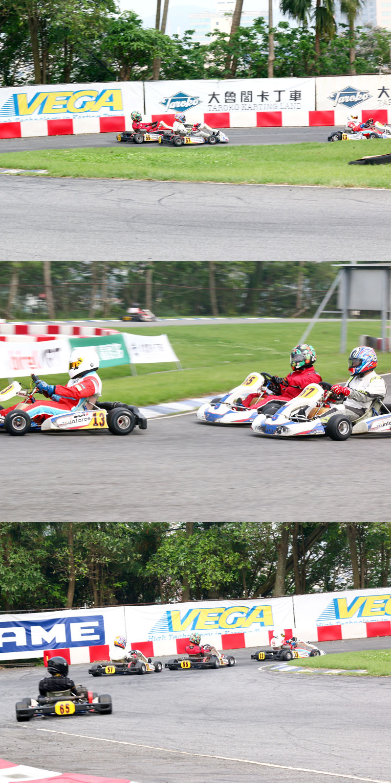 在比賽過程中劉銓〈57號車〉一度在一至三號彎超過了鍾承祐〈55號車〉,但至最後兩圈鍾承祐以其人之道還至其人之身,反超了回來。