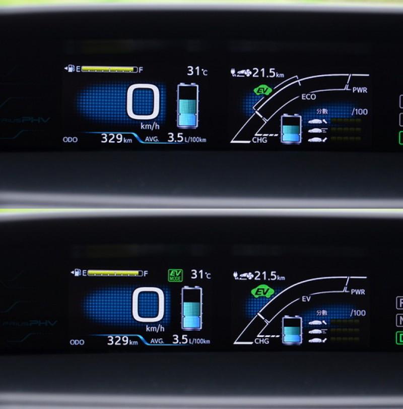 全電動與半電動模式差別在點燃內燃機引擎的時機點