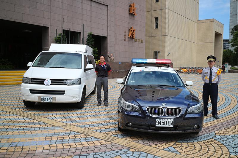 現場也陳列世大運時將用以維護選手與貴賓安全的警務車以及防爆訊號干擾車。