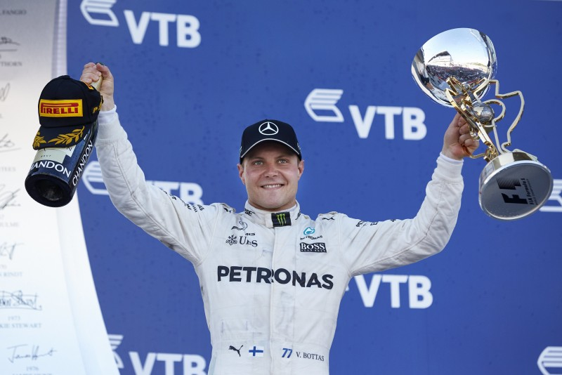 Valtteri Bottas一舉拿下生涯首座分站冠軍,同時Mercedes-AMG Petronas Motorsport車隊於俄羅斯分戰全勝紀錄完美延續。