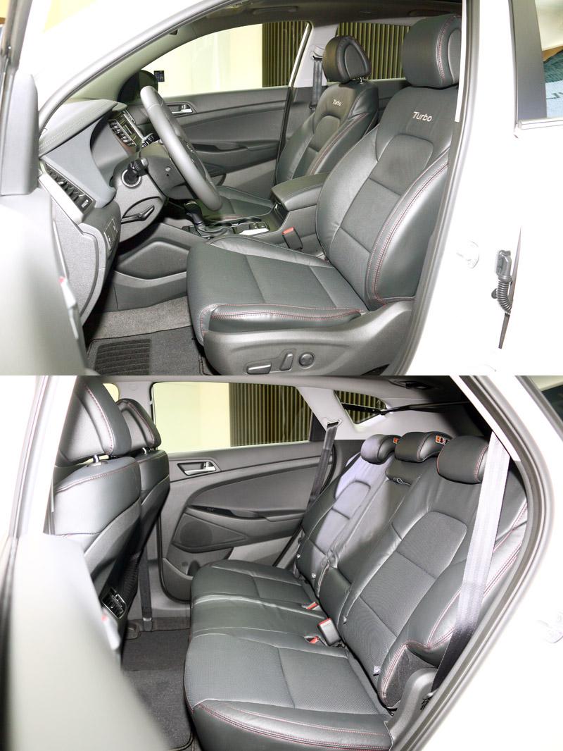 1.6 Turbo內裝配有裝屬的跑車化座椅,並採紅色縫線相搭配。