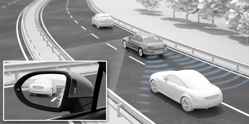 整合車側盲點偵測與倒車側向動態偵測功能,Side Assist Plus安全輔助系統獲評審肯定,摘下「自動駕駛與安全」桂冠。