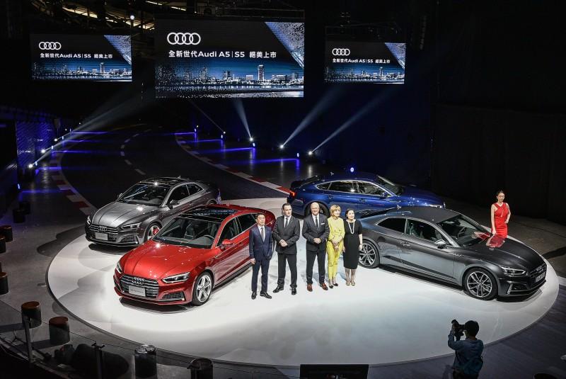 橫掃車壇德國金舵獎、Auto Trophy和 Euro NCAP五顆星權威大獎,台灣奧迪正式宣布全新世代Audi A5│S5隆重在台上市,台灣奧迪誠摯敬邀您蒞臨全台Audi展示中心,近距離體驗四環品牌最新車用科技與現代設計動感美學!