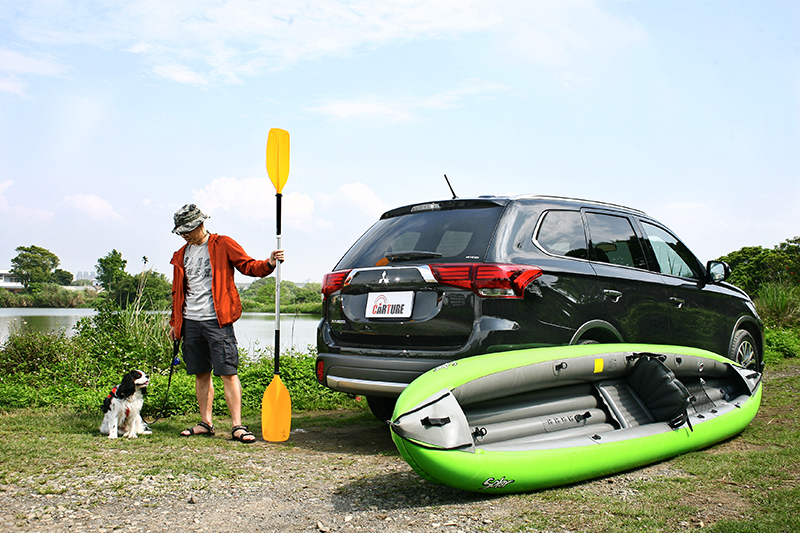 獨木舟玩家最需要的車輛裝載空間,NEW OUTLANDER以超大空間完美對應。