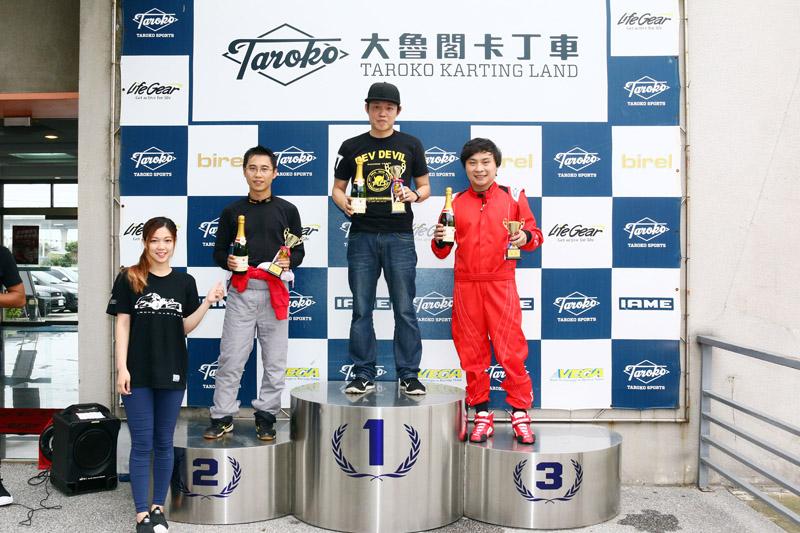Super N35體驗爭先賽前三名:羅俊耀、簡凱徵與林冠宇。