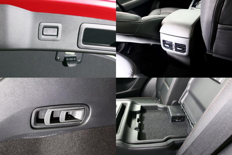 本次新CX-5增加了一些貼心配備,其中又以設於後座中央扶手中的USB充電埠最實用,迎合了時下人們大量使用3C產品的需求。全