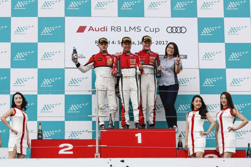 Audi R8 LMS Cup統一規格賽,同一時間於日本最具難度的賽車聖地鈴鹿賽道展開,最終由Absolute車隊的Alessio Picariello暫居總積分第一位。