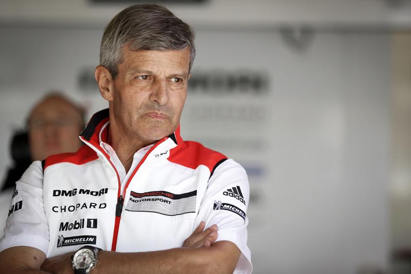 Porsche LMP1副總裁安哲飛(Fritz Enzinger)。