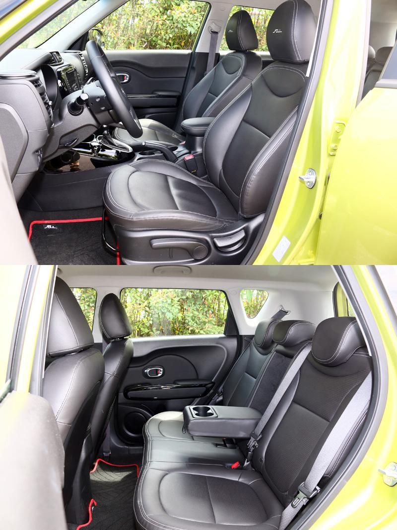 Soul 1.6 CRDI的車內空間表現則是剛好夠用,在同級車中大約就是中上水準。