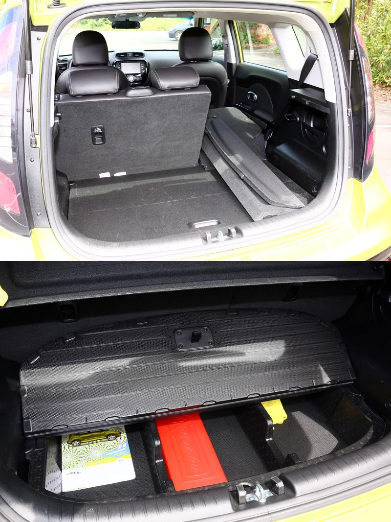 行李廂容積可自238L擴充至878L,底板下方也另有置物空間。