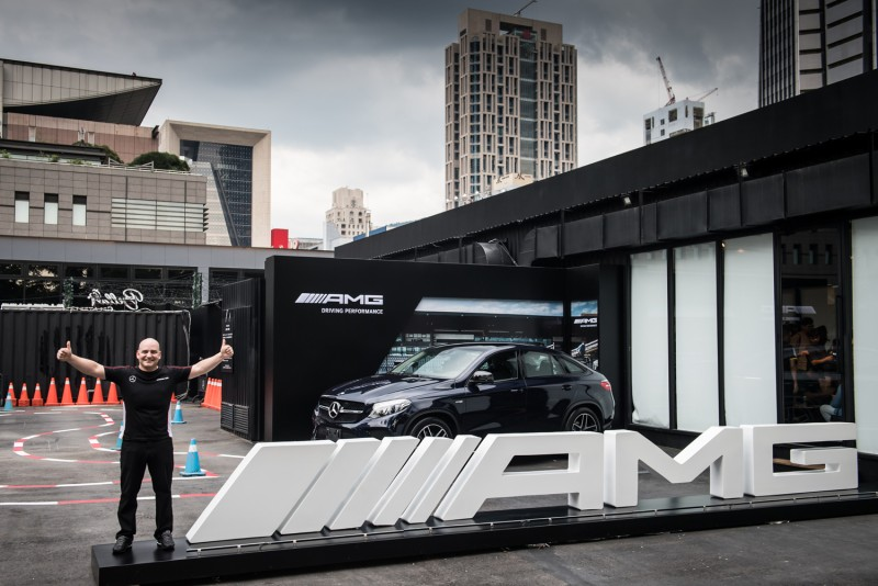 台灣賓士轎車行銷業務處副總裁Markus Henne為Mercedes-AMG 50週年系列活動揭開序幕。