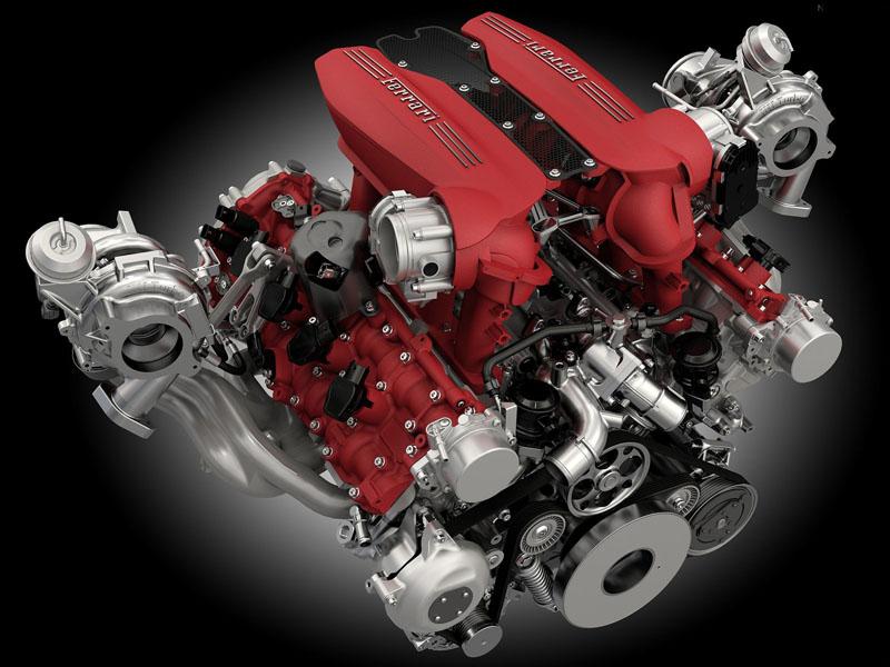 Ferrari法拉利V8引擎。