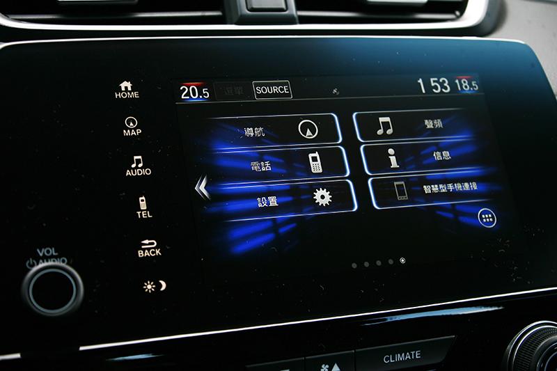 中央7吋觸控式主機介面簡單,點選式控制符合多數國人使用習慣。