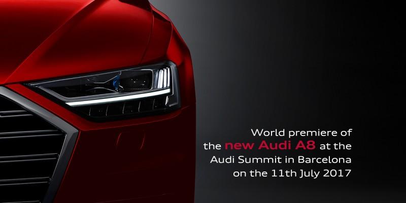 全新世代Audi A8將於西班牙巴塞隆納Audi Summit正式亮相,宣示自動駕駛的量產時代來臨!