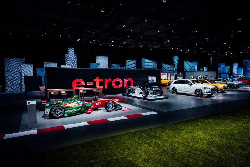 Audi Summit中除了展出了四環品牌最引以為傲的車用科技外,還展示包括e-tron、Audi Sport性能車系等等多達70多輛品牌頂尖之作!