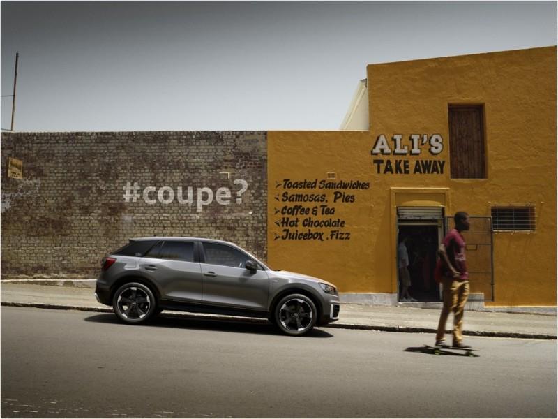 全新Audi Q2 顛覆四環品牌Q 系列家族樣貌,以嶄新設計語彙勾勒不容錯認的俐落身形,展現年輕奔放的強烈車格定位。