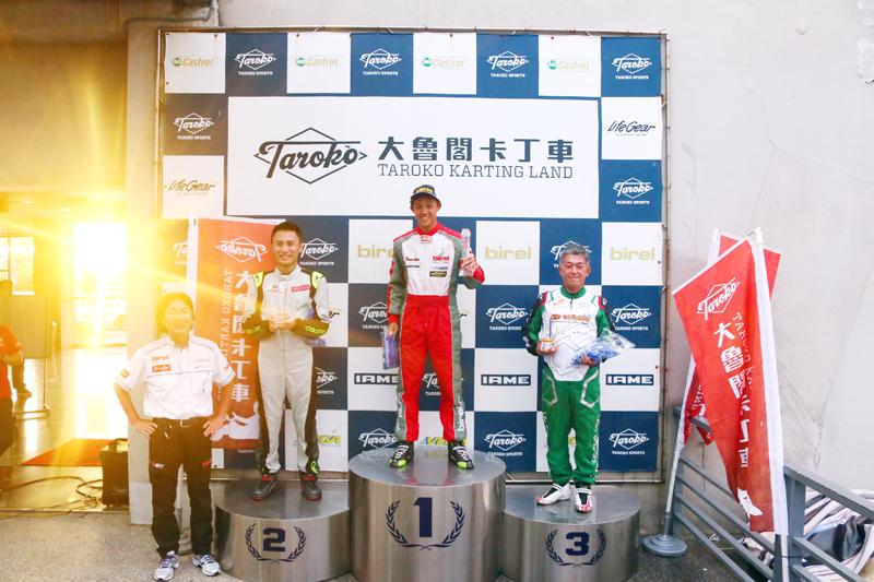 Yamaha SL 資深組前三名:蕭奕丞、齊家駿與Shimakawa。