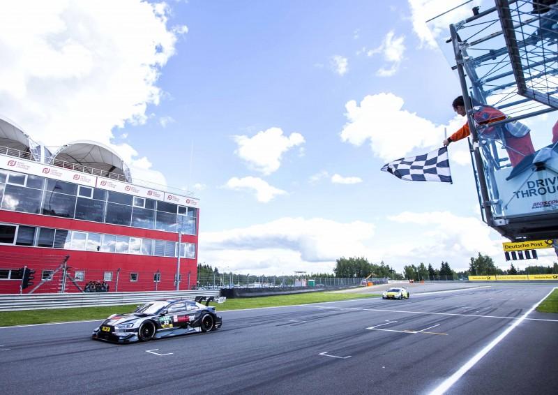 Audi Sport車手整體DTM賽事排名成績亮眼,分別暫居第二、四、五名,將在倒數四個分站火力全開,緊咬冠軍寶座!