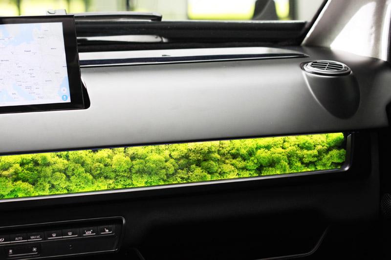 Sono Motors在Sion的中控台上裝了一排特殊的苔類植物,可過濾20%的細塵微粒,同時還具有調節車內濕度的作用。