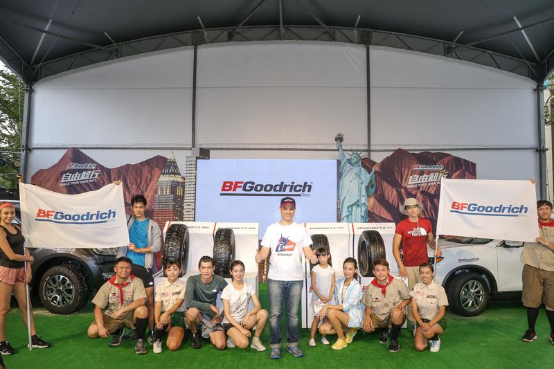 台灣米其林於今日隆重發表美國百年品牌-BFGoodrich百路馳輪胎,台灣米其林毛行健董事長(中)親臨主持品牌發表會,宣示BFGoodrich百路馳輪胎回歸台灣市場。。