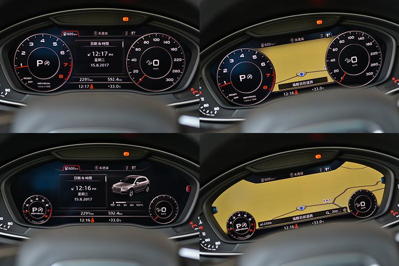 12.3吋Audi全數位虛擬座艙,可將各式資訊清晰呈現在儀錶板位置,帶來更便利也安全的人車介面。
