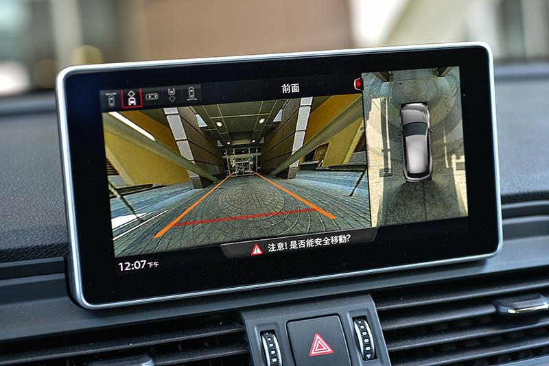 倒車顯影與360度環景顯影系統,讓倒車、停車或駛出車位都更加安全且簡單。