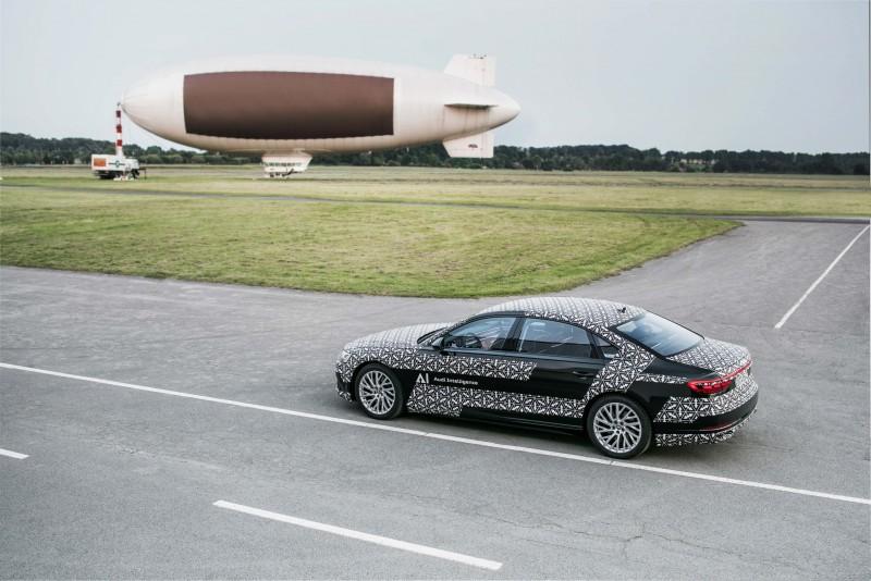領先其他豪華品牌,AUDI AG 正式宣布具體實現Level 3 自動駕駛技術於量產車型上,創新Audi AI traffic jam pilot 塞車自動駕駛系統將率先搭載至品牌旗艦全新世代Audi A8 上。