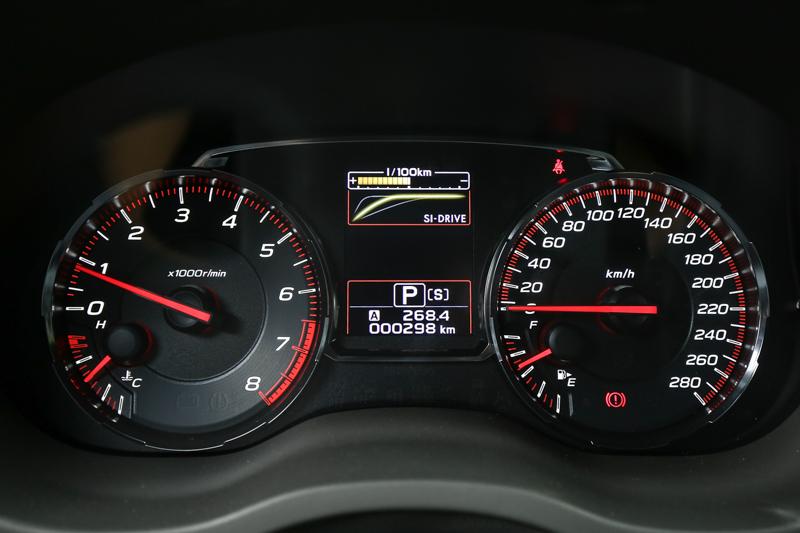 雙環式儀表板搭配中央的液晶顯示幕。
