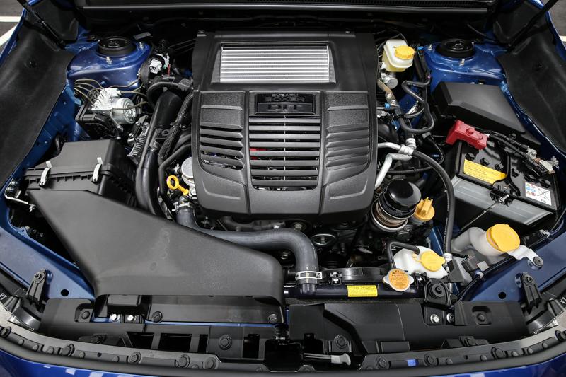 WRX搭載著代號F20A的2.0升水平對臥四缸汽油引擎,有著渦輪增壓系統與缸內直噴等科技的加持,具備268hp/35.7kgm輸出實力。